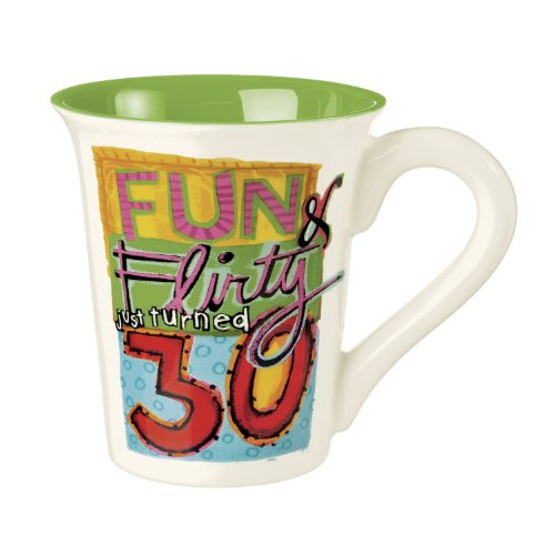 """Grasslands Road Times Are Changing 12-Ounce """"Fun, Flirty 30"""" Large Mug, Gift Boxed"""