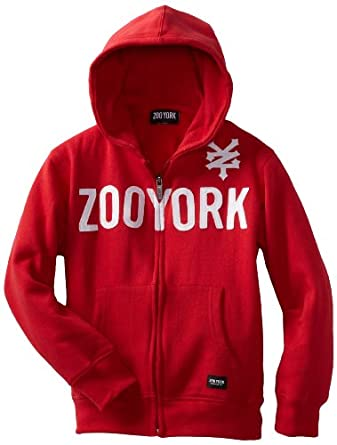Zoo York Big Boys' Straight Core Hoody Tee, Red, X-Large