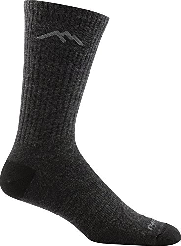 Darn Tough Vermont In-Town Series Men's Standard Issue Crew Socks Cushion, Charcoal, X-Large - 2 Pack