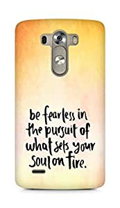AMEZ be fearless i the pursuit Back Cover For LG G3