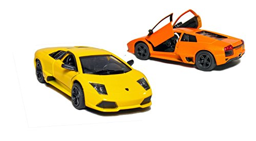"Set of 2: 5"" Lamborghini Murcielago LP640 1:36 Scale (Orange/Yellow)"