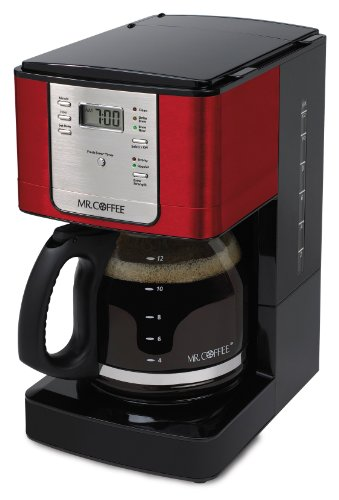 Mr Coffee Coffee Maker Programmable : picture of Mr. Coffee 12 Cup Programmable Red Coffee Maker RED