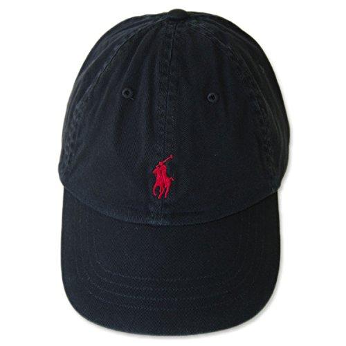 (ポロ ラルフローレン)POLO Ralph Lauren キャップ CAP 帽子 メンズ レディース PONY ポニー ワンポイント ブラック×レッド[並行輸入品]