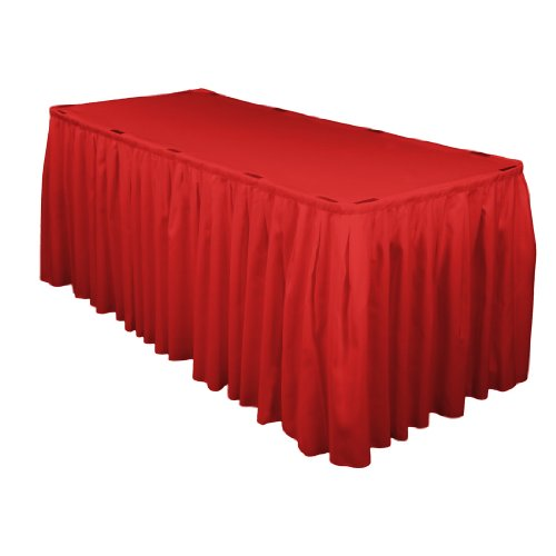 17 Foot Polyester Table Skirt Red