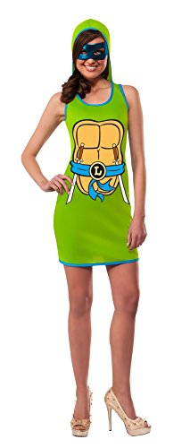 Rubie's Costume Co Women's TMNT Classic Costume Leonardo Hooded Tank Dress