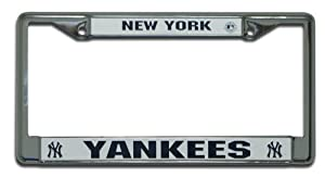 MLB New York Yankees Chrome License Plate Frame