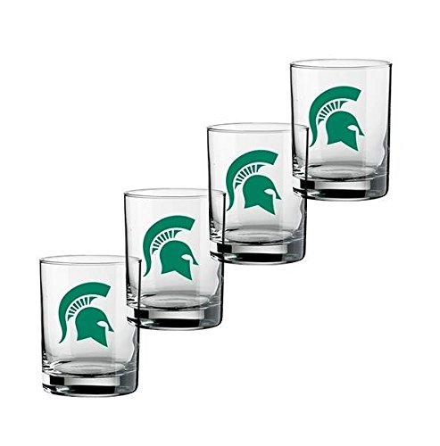ncaa-michigan-state-spartans-set-of-4-double-old-fashioned-glasses-14-ounce