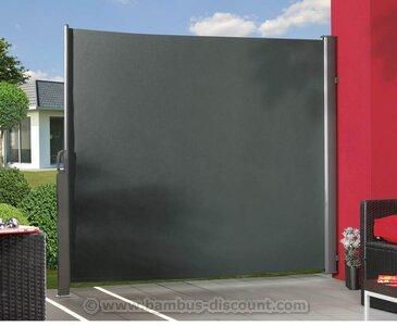 seitenmarkise ausziehbar anthrazit 180x350cm sichtschutzz une sichtschutzwand. Black Bedroom Furniture Sets. Home Design Ideas