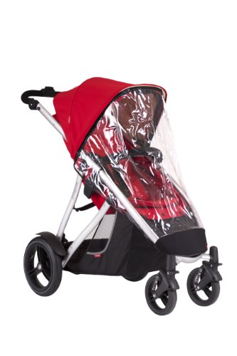 phil&teds Stormy Weather Cover for Vibe and Verve Strollers, Single