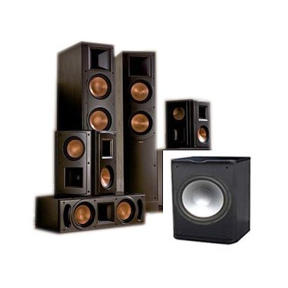klipsch rf 62 ii home theater system free sub temp audio device. Black Bedroom Furniture Sets. Home Design Ideas