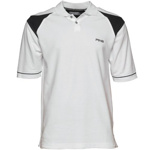 Ping Collection Mens Simian Polo White/Black