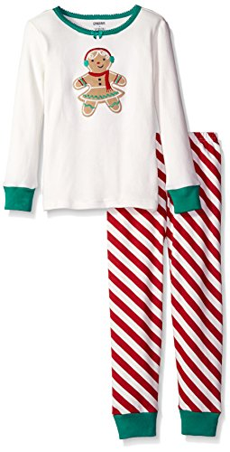 Gymboree Big Girls' Holiday Themed 2-Piece Tight-Fit Pajamas