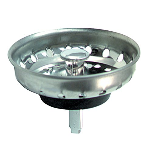 Brasscraft Kitchen Sink Basket Sink Strainer With Post For 3-1/2-Inch Drains, Chrome