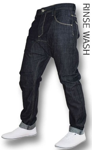 EATONTHREADS: Mens Crosshatch Comfort Fit Bandit Jean: Rinse Wash & Dark Wash available from sizes 28