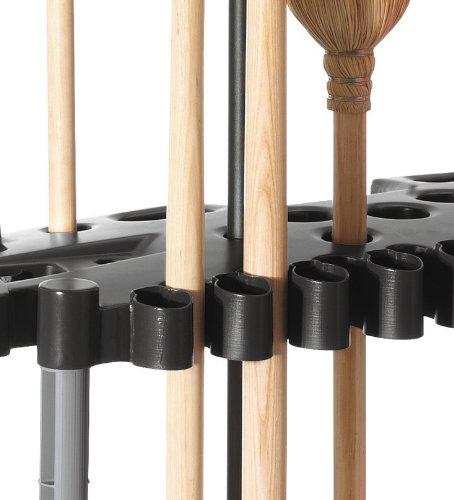 Rubbermaid 40 tool shed tower rack organizer shovel rake for Gardening tools organizer