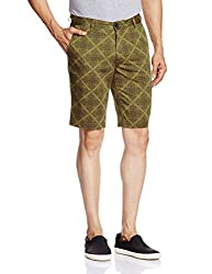 Parx Men's Cotton Shorts (8907116559182_XMHY00173-N6_30_Dark Green)