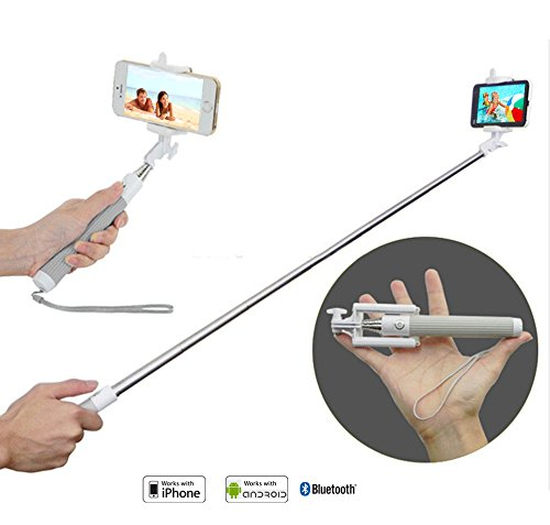 portrait selfie stick for iphone and android phones with extendable rod and built in bluetooth. Black Bedroom Furniture Sets. Home Design Ideas