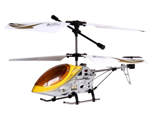 PF 3-Channel RC Helicopter with Gyroscope (Yellow)