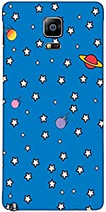 Snoogg Stars Phone Cover Case Cover For Samsung Galaxy Note Iiii / Note 4