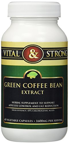 Vital and Strong Green Coffee Bean Extract for Weight Loss 1600mg per Serving 60 Count (Juicing Books Best Rated compare prices)