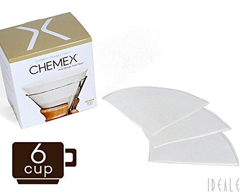 ケメックス(CHEMEX) 専用フィルターペーパー FC-100 円タイプ 6カップ用 100枚入り 【並行輸入品】