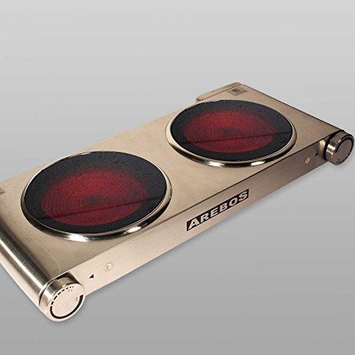Arebosr elektrische edelstahl kochplatte ceran kochfeld for Kochplatte ceran