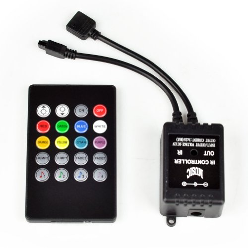 Dc 12V 20 Keys Sound Sensor Music Ir Remote Led Controller For Rgb Strip Light