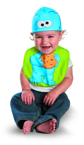 Disguise Drool Over Me Sesame Street Cookie Monster Infant Bib and Hat Costume