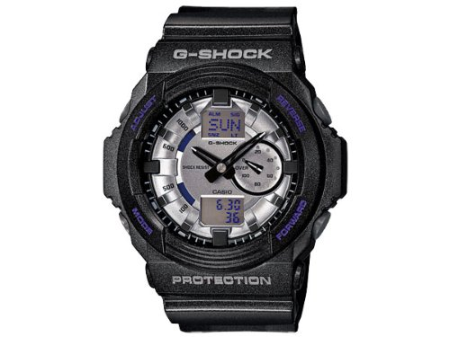 Casio G shock metallic dial an analog-digital watch GA150MF-8A silver gray × black [parallel import goods]
