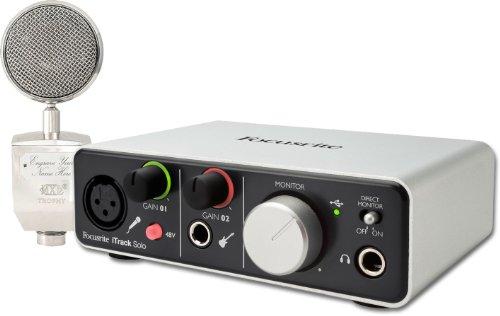 Focusrite Itrack Solo Usb Audio Interface W/ Mxl Trophy Mic