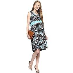 MamaCouture Blue Cotton Dress for Women