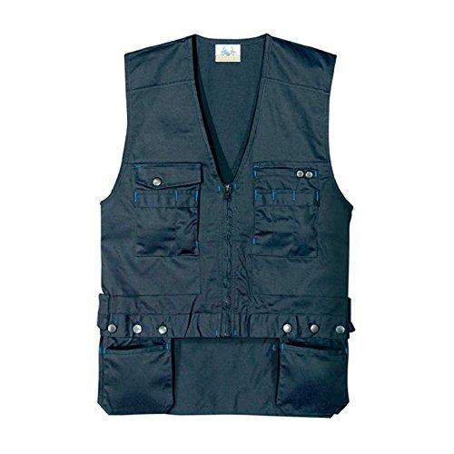 Gilet Da Lavoro Con Tasche Porta Chiodi Staccabili - XL, Blu