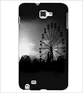 PrintDhaba Giant Wheel D-2346 Back Case Cover for SAMSUNG GALAXY NOTE 1 (Multi-Coloured)