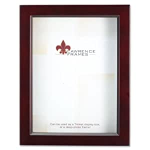 Lawrence Frames 795180 Espresso Wood Treasure Box Shadow Box Picture Frame, 8 by 10-Inch