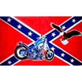 CONFEDERATE FLAG REBEL BIKER ~ Sportsworld