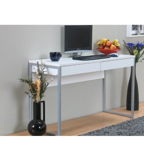 schreibtisch computer pc tisch arbeitstisch function 2 schubladen b ro wei com forafrica. Black Bedroom Furniture Sets. Home Design Ideas
