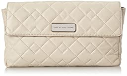 Marc by Marc Jacobs Crosby Quilt Leather Jemma Clutch, Tumbleweed Beige, One Size