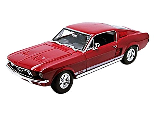 1967-Ford-Mustang-GTA-Fastback-Maisto-31166-Rot-118-Die-Cast