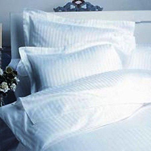Soft & Pure 800 Tc Italian 3Pc Duvet Cover Set White Stripe Choose Size Sale-18