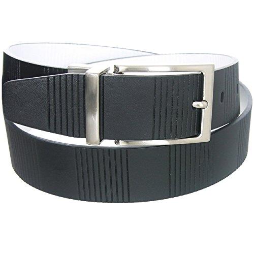 Nike Signature Vertical Strip Reversible Belt Black/White Men