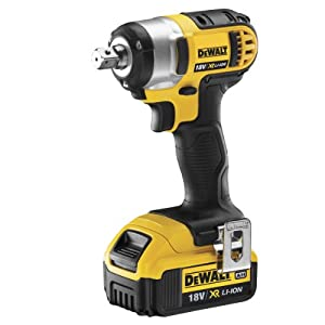 DeWalt 18V XR Lithium-Ion Compact Impact Wrench with 2 x 4Ah Batteries