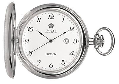 Royal London Pocket Watch 90000-01 Stainless Steel Full Hunter