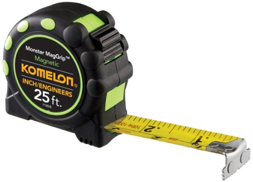 Komelon 7125IE Monster MagGrip Inch/Engineer Scale 25-Foot Measuring Tape with Magnetic End (Engineers Scale 25 compare prices)