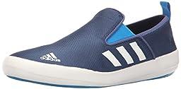 adidas Outdoor Men\'s B Slip-On DLX Water Shoe, Mineral Blue/White/Solar Blue, 10 M US