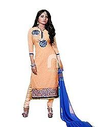 Bhakti Trading Women's Gorgette Unstitched Dress Material (BT-25004)