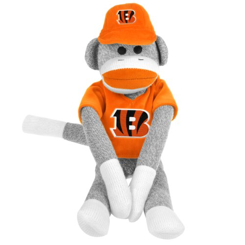 NFL Cincinnati Bengals Uniform Sock Monkey at 'Sock Monkeys'