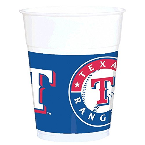 """Amscan Sports & Tailgating MLB Party Texas Rangers Treat Cups (25 Pack), Multi Color, 12.4 x 3.8"""""""