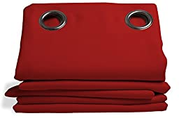 Moondream Solid Blackout Curtain, red, 57\