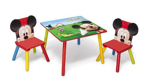 Disney set tavolo con 2 sedie per bambini mickey mouse - Tavolini per bambini disney ...
