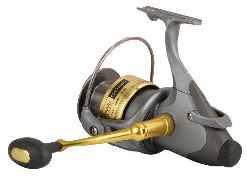 Okuma coronado baitfeeder spinning reel grey gold small for Okuma fishing reels for sale